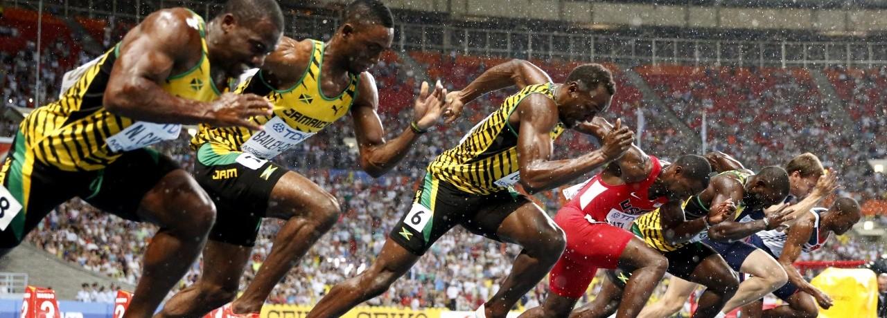 陸上100m走の選手は筋肉ムキムキのマッチョという風潮