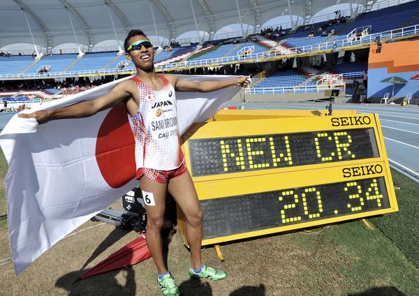 【陸上】男子100m世界王者のジャスティン・ガトリン(35)、サニブラウン(18)にエール 「9秒8台も出せるだろう」