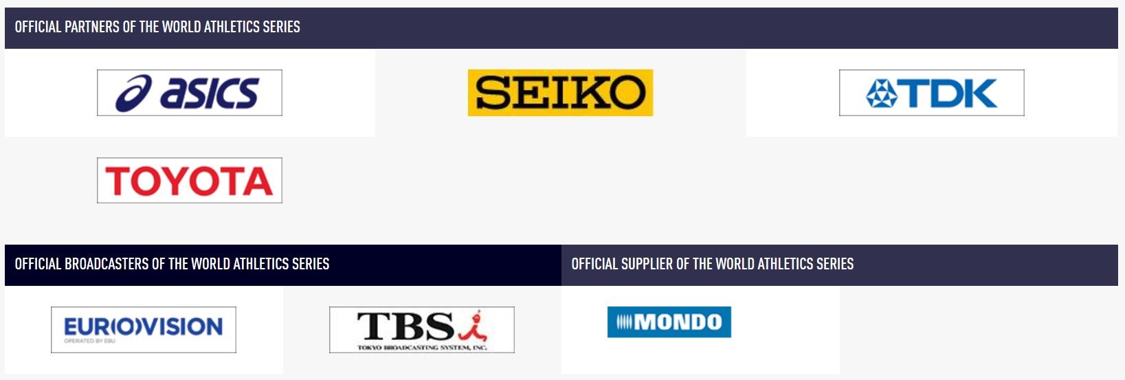 世界陸上のスポンサー、日本企業しかなくてワロタ