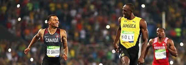 """【陸上】""""ボルトの後継者""""アンドレ・ドグラス(カナダ)が肉離れにより世界陸上欠場 リオ五輪では200m銀、100m銅"""