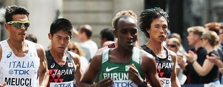 【世界陸上】男子マラソン 転倒と給水ミスがありながら、川内が脅威の追い上げで9位に 中本10位 優勝はキルイ(ケニア)