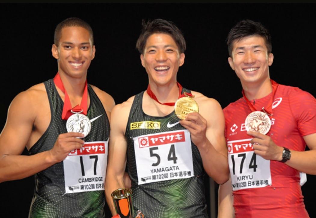 【陸上】日本選手権 男子100m 山県亮太が5年ぶりの優勝!10秒05でアジア大会代表にも内定 2位ケンブリッジ 3位桐生