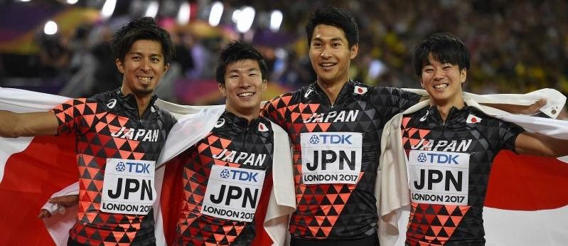 日本 男子400Mリレーで銅メダル