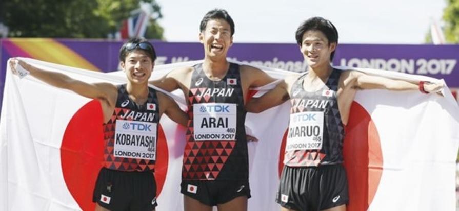 【世界陸上】リオ五輪銅の荒井が銀メダル!小林は銅!日本勢初の複数メダル 男子50キロ競歩