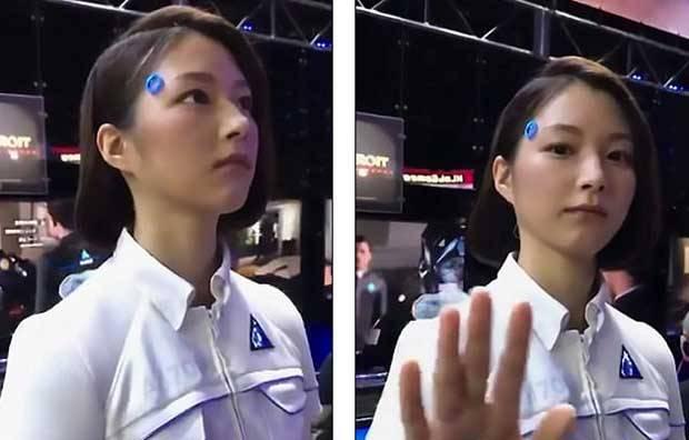 【動画】 人間かアンドロイドか? 東京ゲームショウの女性型ロボットがネットで激論