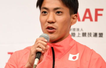 【陸上】山県亮太が左脚違和感で帰国へ アジア大会へ大事取る 日本選手団主将