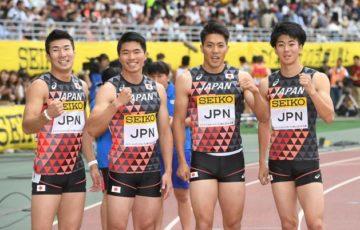 【陸上】リレー侍 リベンジV!まさかの失格から1週間、今季世界最高38秒00