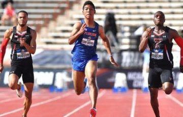 【陸上】男子100m準決勝 サニブラウン選手 追い風参考記録で9秒96 全米大学選手権