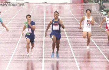 【陸上】 サニブラウン200mも優勝 100mと2冠達成 日本選手権